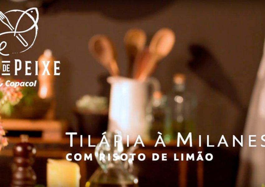 Peixe à Milanesa com Risoto de Limão